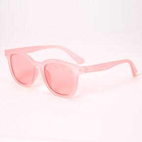 Retro Transparent Sunglasses - Pink,
