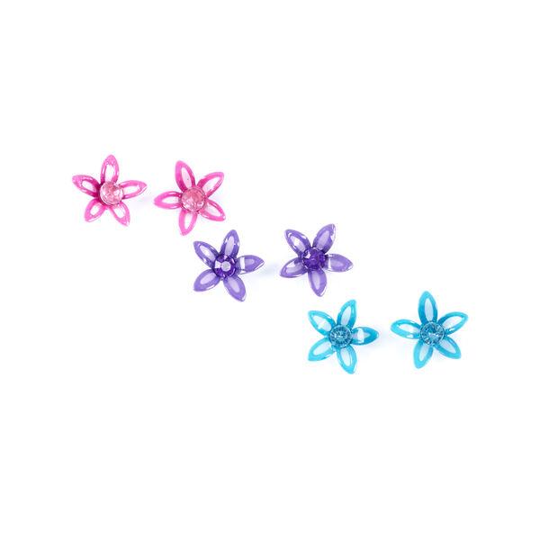 Claire's - neon flowers stud earrings - 1