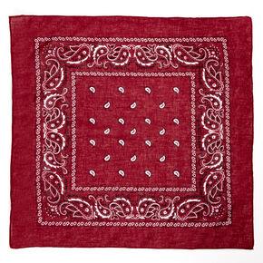 Paisley Bandana Headwrap - Burgundy,