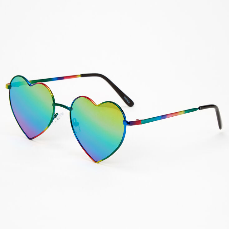 Rainbow Anodised Heart Sunglasses,