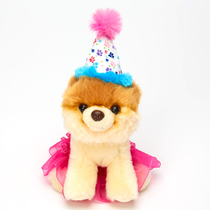 Boo The World's Cutest Dog™ Small Birthday Soft Toy – Pink,