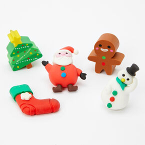 Christmas Erasers - 5 Pack,