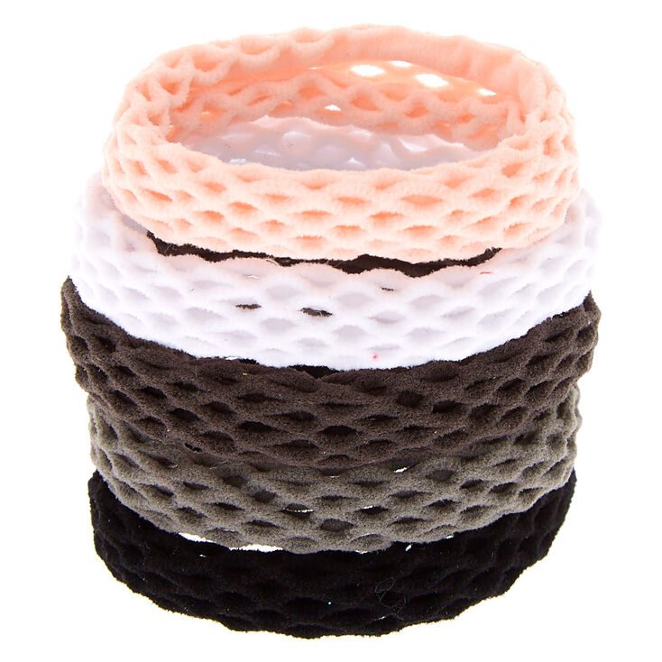 Fishnet Rolled Hair Ties - 5 Pack,