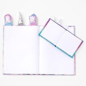 Pastel Ombre Sequin Unicorn Sketchbook Set - 2 Pack,
