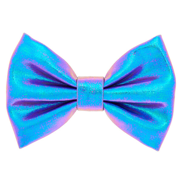 Claire's - mini metallic mermaid hair bow clip - 1