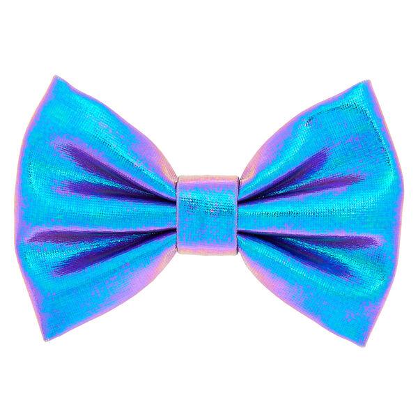 Claire's - mini metallic mermaid hair bow clip - 1