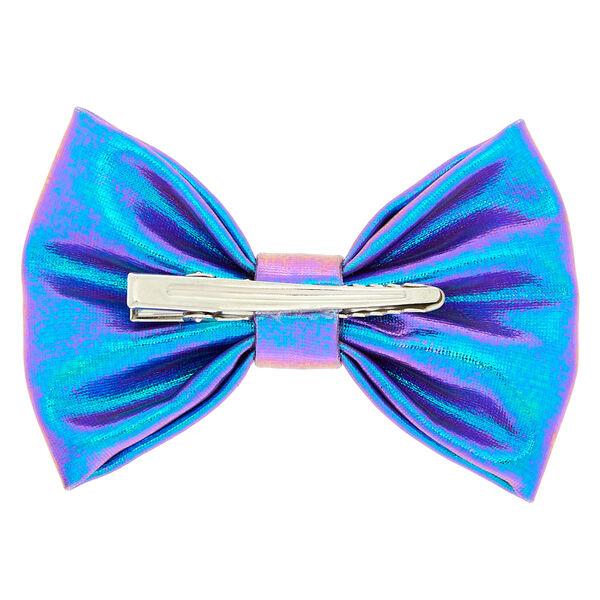 Claire's - mini metallic mermaid hair bow clip - 2