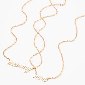 Best Friends Mommy & Mini Script Pendant Necklaces - 2 Pack,