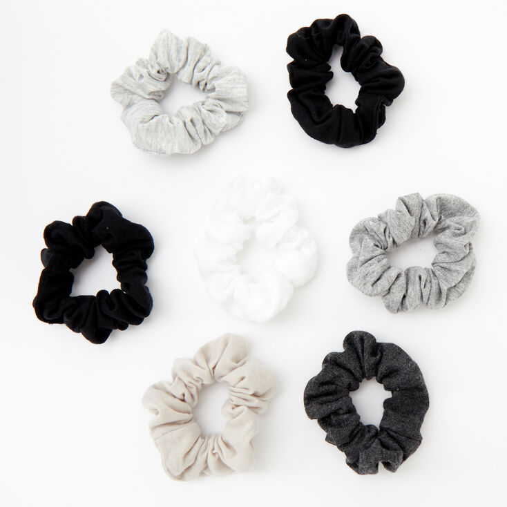 Small Neutral Hair Scrunchies - 7 Pack,