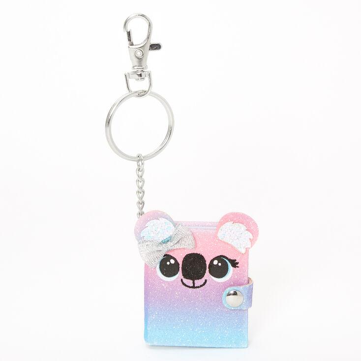 Kora the Koala Mini Glitter Diary Keychain,