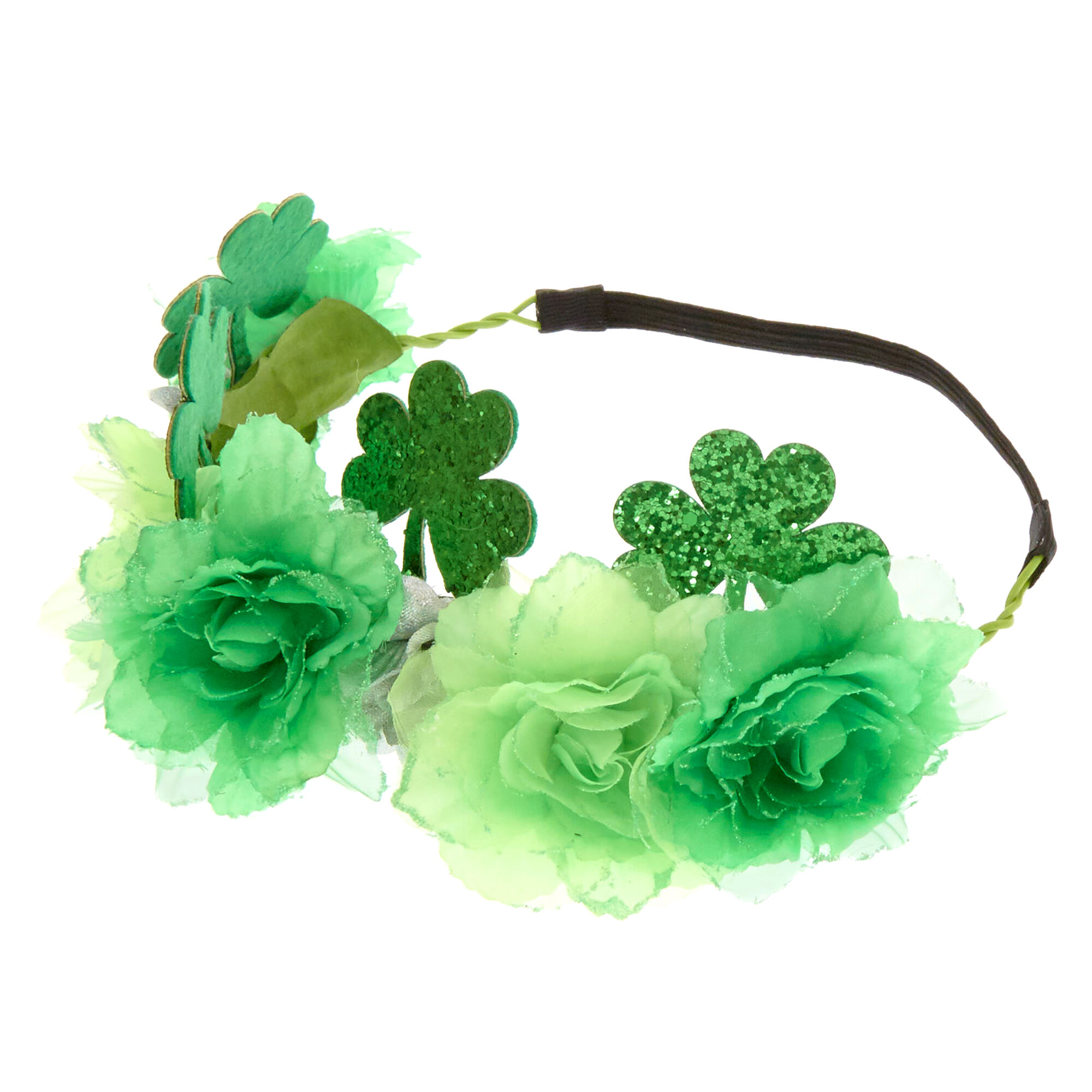 St patrickss day green flower crown claires st patricks39s day green flower izmirmasajfo