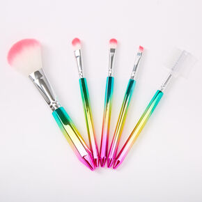 Rainbow Ombre Makeup Brush Set - 5 Pack,