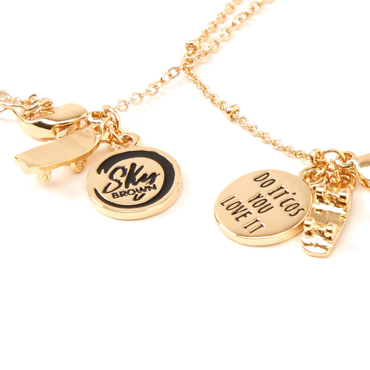 Sky Brown™ Gold Padlock Chain Necklaces - 2 Pack,