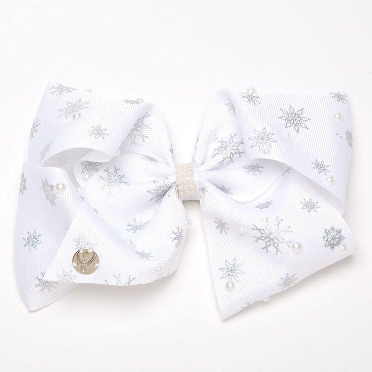 JoJo Siwa™ Snowflakes Hair Bow – White,