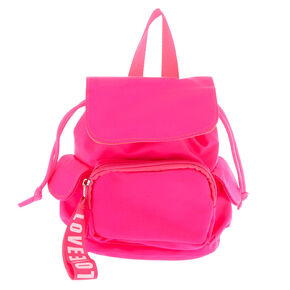 Nylon Mini Backpack - Hot Pink,