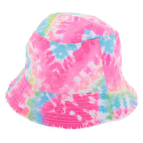 231681ad90a55 Rainbow Tie-Dye Bucket Hat