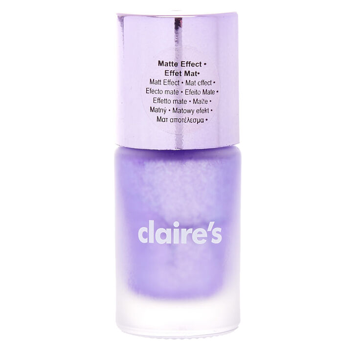Matte Metallic Purple Nail Polish,
