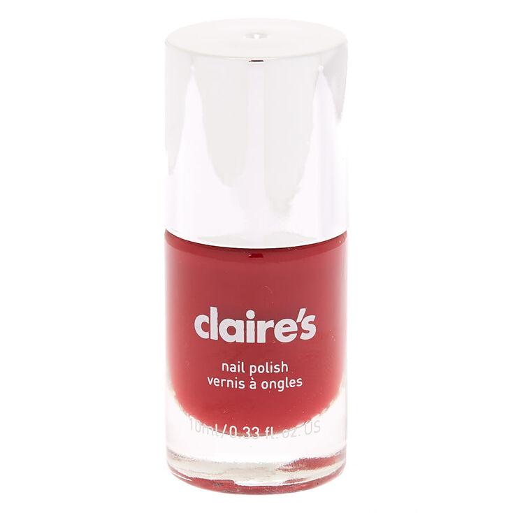 Solid Nail Polish - Red Garnet,