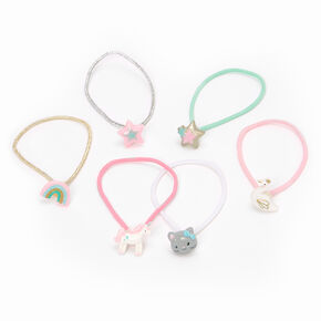 Claire's Club Animal Celestial Hair Bobbles - 6 Pack,