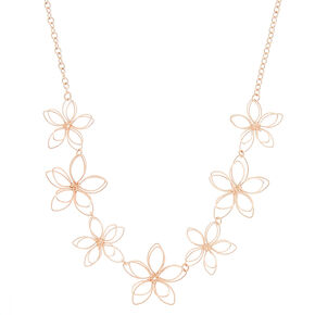 Go to Product: Rose Gold Wire Flower Statement Necklace from Claires