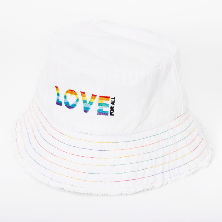 Rainbow Love For All Bucket Hat - White,