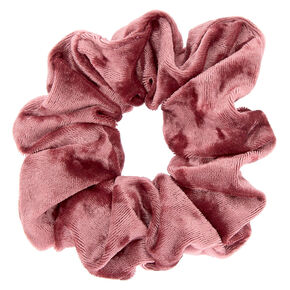 Large Velvet Hair Scrunchie - Mauve Pink 27b0fb09233
