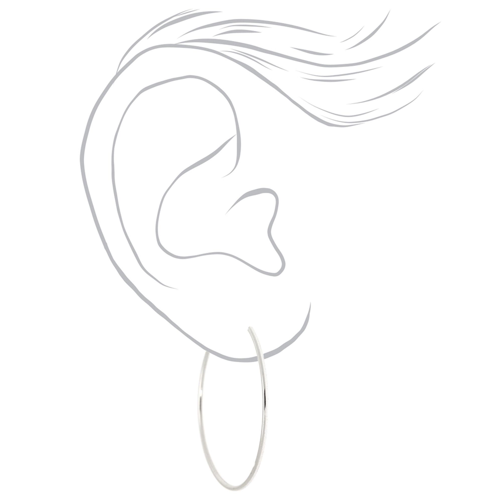 d8184fbf2fd8d Sterling Silver 30M Infinity Hoop Earrings