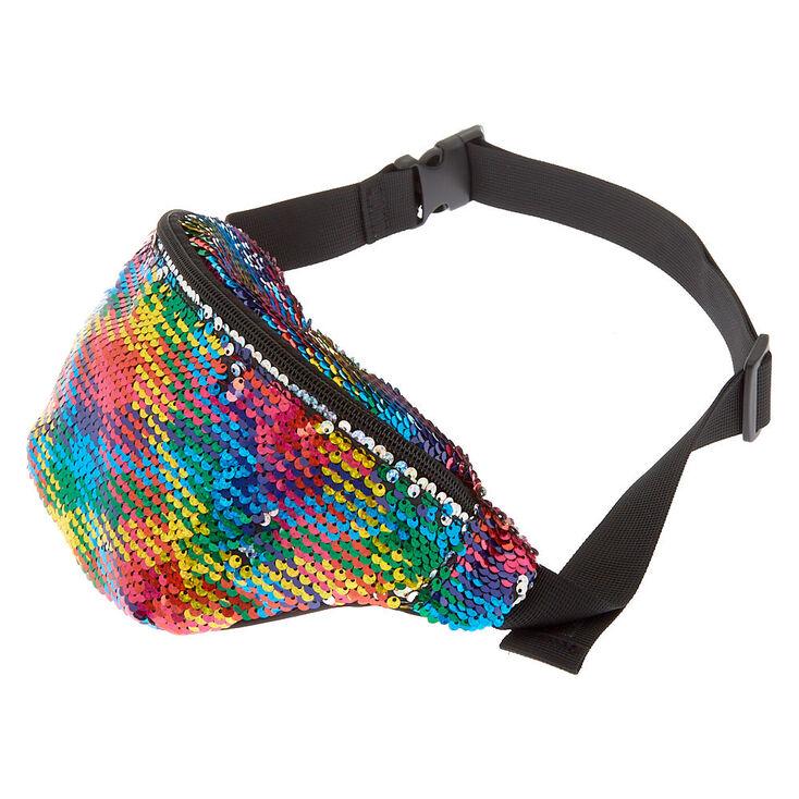 Reversible Sequin Rainbow Bum Bag,