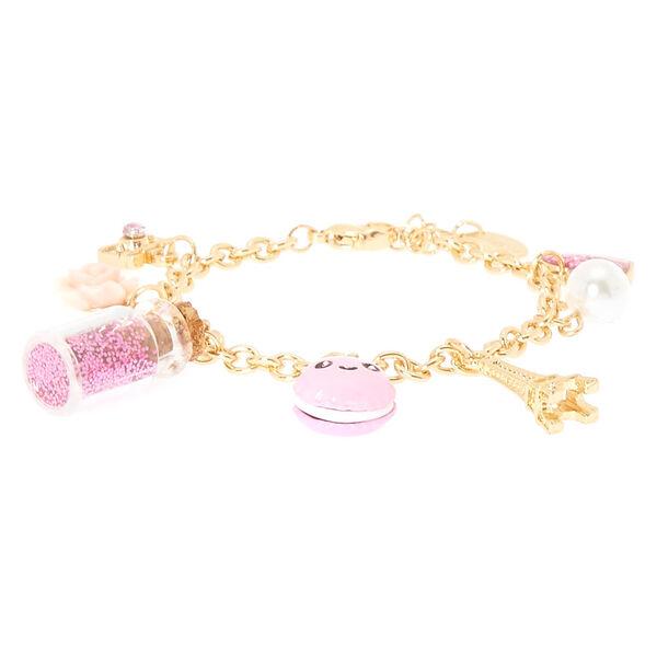 Claire's - gold paris charm bracelet - 2