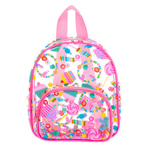 Claire's Club Transparent Sweet Treats Small Backpack - Pink,