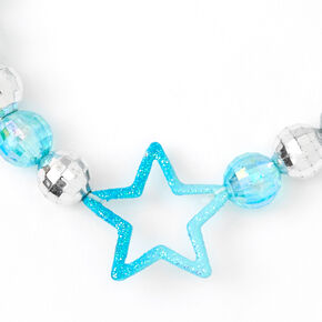 Blue Star Disco Ball Stretch Bracelet,