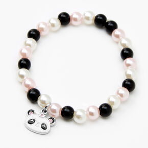 Claire's Club Panda Pearl Beaded Stretch Bracelets - 2 Pack,