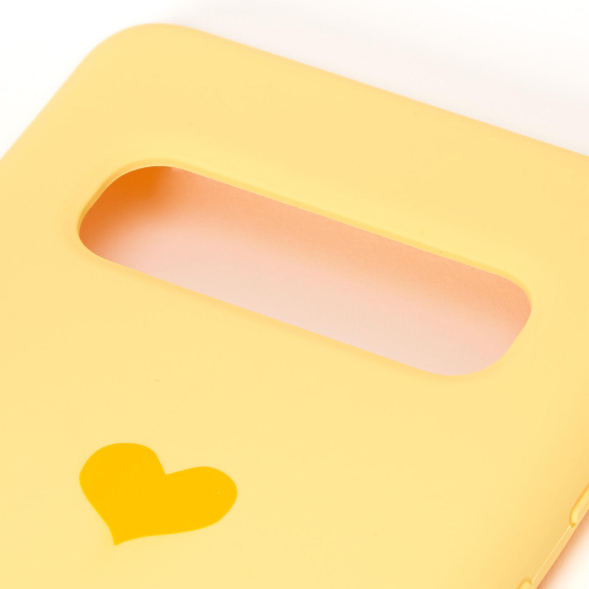Coque de portable cœur jaune - Compatible avec Samsung Galaxy S10