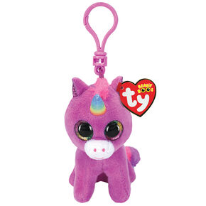 Ty Beanie Boo Rosette the Unicorn Keyring Clip,