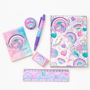 Dreamer Unicorn Stationery Set - Lilac,