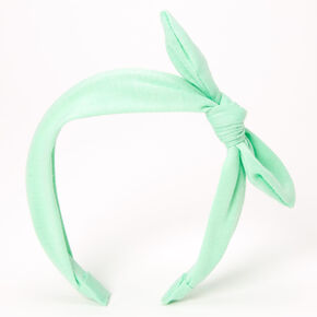 Knotted Bow Headband - Mint,