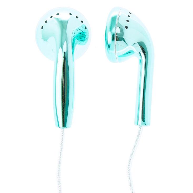 Metallic Teal Earphones,