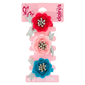 Hair clips grips claws claires us claires club floral hair clips pink 3 pack mightylinksfo