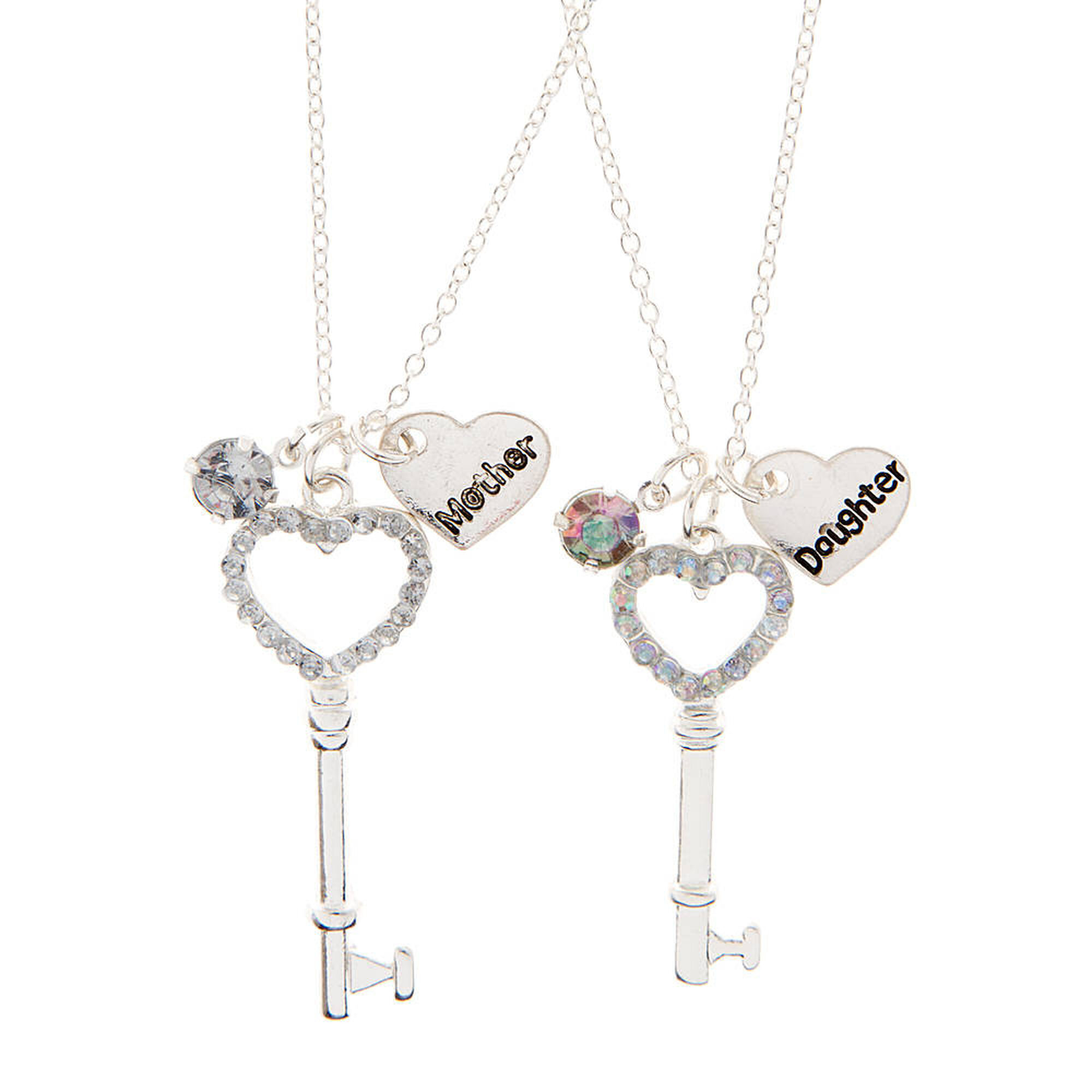 Best friends mother daughter rhinestone heart key pendant necklaces best friends mother daughter rhinestone heart key pendant necklaces aloadofball Images