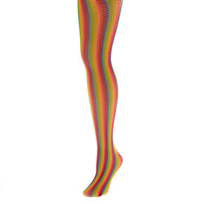 Rainbow Fishnet Tights,