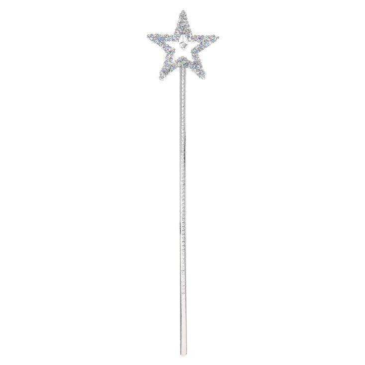 Claire's Club Star Fairy Wand - Silver,