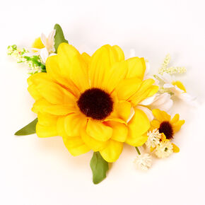 Cluster Sunflower Hair Clip,