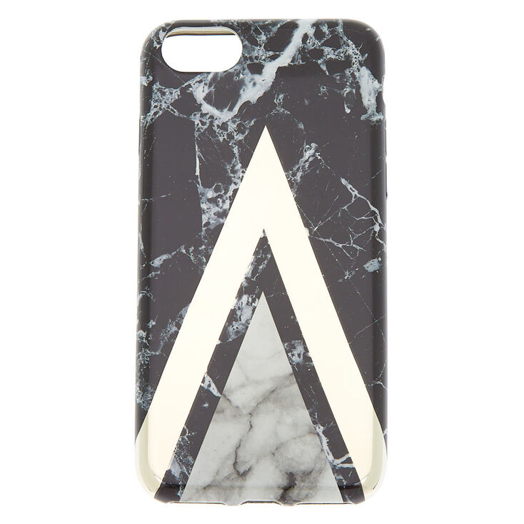 Black Geometric Marble Phone Case - Fits iPhone 6/7/8/SE,