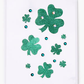 Shamrock Glitter Body Stickers,