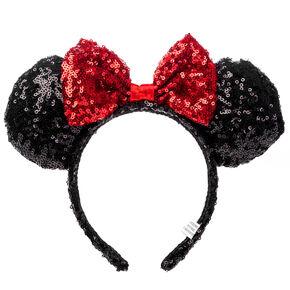 75823d43b89 Disney® Minnie Mouse Sequined Ears Headband- Black