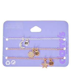 Mixed Metal Celestial Chain Friendship Bracelets - 2 Pack,