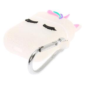 Étui pour écouteurs en silicone licorne pailleté - Compatible avec les Airpods® de Apple,