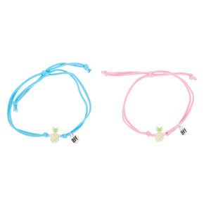 Pastel Pineapple Stretch Friendship Bracelets - 2 Pack,