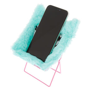 Furry Owl Phone Holder Chair - Mint,