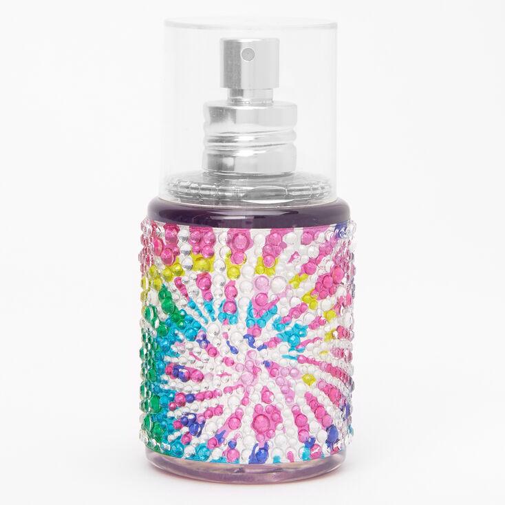 Rainbow Tie Dye Bling Body Spray - Bubble Gum,